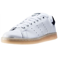 adidas Stan Smith W Womens Trainers White Navy New Shoes