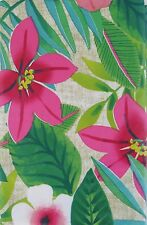 Floral Tropical Forest Vinyl Tablecloth w/Zipper Umbrella Hole Various Sizes