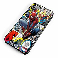 Spiderman Swinging Through Vintage Comic Strip iPhone Range Cover Case Marvel DC