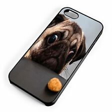 Pug Staring At Treat Funny Cute Quirky iPhone Range Case Cover