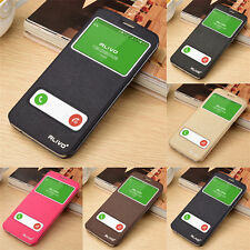 For Samsung Galaxy Luxury Smart View Window Slim Flip Leather Cover Case Skin