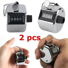 2PCS Sale High Quality Hand held Tally Counter 4 Digit Number Clicker Golf NMU