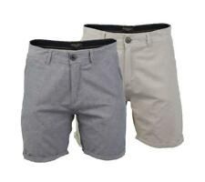 New Brave Soul Mens 'Cantle' Cotton Roll Turn Up Tailored Chino Shorts Size S-XL