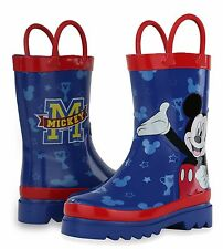 Disney Mickey Mouse Blue and Red Rain Boots (Toddler/Little Kid) MMR69080AO