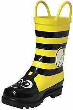 Puddle Play Girls Bumble Bee Flower Rain Boots Toddler/Little Kids GNR61125