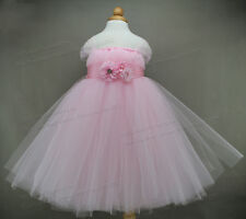 Pink Baby Tutu Dress Birthday Party Flower Girl Dresses Infant Princess Baby