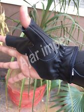 TRADITIONAL BOW SHOOTING LEATHER GLOVE TOP QUALITY BOW GLOVE 100% REAL LEATHER
