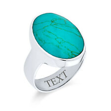 Bling Jewelry Oval Reconstituted Turquoise Southwest Style Sterling Silver Ring