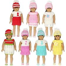 """Trendy Dress Hat Socks Knitted Set Clothes Outfit for 18"""" American Girl AG Dolls"""