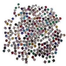 300Pcs Sewing/Stick Crystal Glass Diamante Rhinestones Sewing DIY Craft