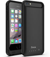 """Zeox External Battery Backup Power Bank Charger Cover Case for iPhone 6 6s 4.7"""""""