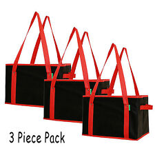 Reusable Grocery Shopping Box Bag Collapsible Travel Tote Picnic Beach Bag 3 Pcs