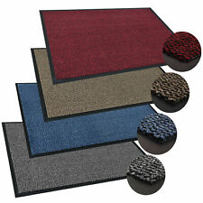 NON SLIP HEAVY DUTY RUBBER BARRIER MAT RUGS BACK DOOR HALL LARGE & SMALL KITCHEN