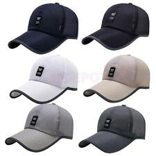 Adjustable Unisex Summer Cap Men's Golf Baseball Sport Mesh Cap Curved Visor Hat