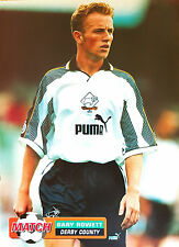 MATCH football magazine retro player A4 picture poster Derby County - VARIOUS