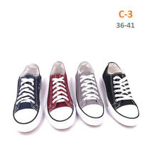 NEW LADIES WOMEN GIRLS CASUAL FLAT LACE UP PLIMSOLLS PUMPS CANVAS TRAINERS SHOES