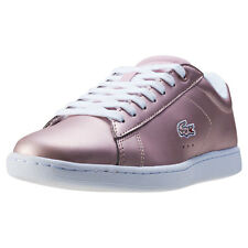 Lacoste Carnaby Evo 117 3 Womens Trainers Light Pink New Shoes