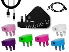 8 COLOR USB MAINS CHARGER+USB CABLE FOR IPHONE 5s 5c 5G 5 6 IPOD ipad air mini