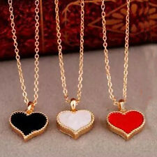 Fashion New Girl Red Hearts with Love Necklace Clavicle Chain Models Clover