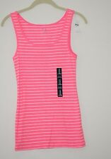 NEW NWT Womens GAP Boyfriend Neon Pink Tank Top Ribbed Stretch CHOOSE SIZE