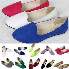 Womens Ballerina Ballet Dolly Pumps Casual Flats Loafers Boat Shoes US Size 4-10