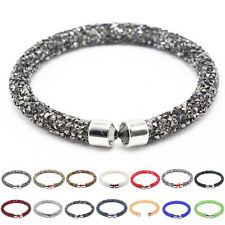 Women's Single Loop Crystal Rhinestone Bracelet Bangle Cuff Fashion Jewelry