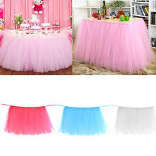Tulle TUTU Table Skirt cover Wedding Party Baby Shower bday Table Decor 4 Colors