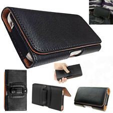 PU Leather Horizontal Sleeve Belt Clip Pouch Holster Case Cover For Mobile Phone