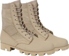 "Desert Tan Panama Sole Combat Boots Military 8"" Tactical Jungle Boots"
