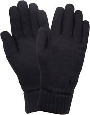 Black Cold Weather Lightweight Base Layer Fleece Lined Gloves Liners Insert