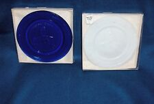 2 Comm. Bernard Boyd Art Glass Collectibles Paperweights Cobalt Blue & White
