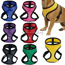 Dog Puppy Pet Cat Adjustable Padded Harness Soft Mesh Lead Leash Vest Collar New