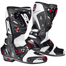 Sidi Vortice Air Motorcycle Boots - White / Black