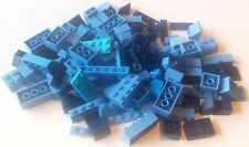 LARGE QUANTITY LEGO BRICKS over 130 Various BLUES Navy, Baby, Etc.