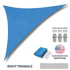 Customize Size Blue Right Triangle Sun Shade Sail Outdoor Canopy Awning PoolTop