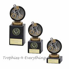"Bike BMX Cycle Trophy Award 3 Sizes on Marble Bases"" FREE ENGRAVING"""