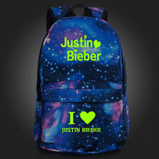 Justin Bieber Luminated Women Men Student schoolbag backpack Handbag Bookbag