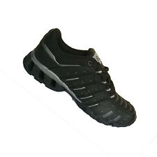 BOYS KIDS BLACK GREY LACE UP TRAINERS SHOES SPORTS GYM RUNNING LIGHTWEIGHT UK 5