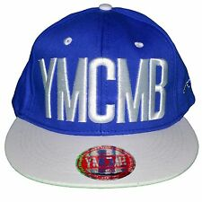YMCMB - SNAPBACK CAP - ADJUSTABLE SIZE - WHITE BLUE NEW