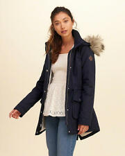 Abercrombie & Fitch – Hollister Womens Sherpa Lined Parka Jacket XL Navy NWT