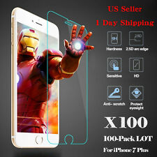 NEW 100x Wholesale Tempered Glass HD Screen Protector Film for iPhone 7 Plus