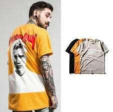 New Men's JUSTIN BIEBER Concert Printed T-Shirt Fit Casual Short Sleeve Tee Tops