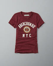 Abercrombie & Fitch T-Shirt Womens Logo Graphic Tee Shirt Top XS S or M Red NWT