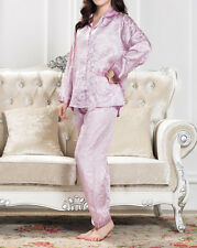 Female Pajamas in Top-Quality 100% Mulberry Silk in 2 optional colors