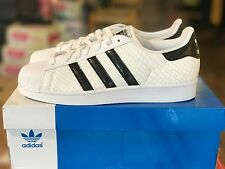 New Mens adidas Samoa Athletic Shoes Leather Sneakers White-Black