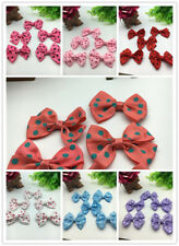 DIY8pcs-50Pcs Satin Ribbon Purple speckle BOW Appliques/craft/Wedding decoration