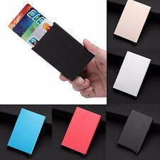 Mens Womens Aluminum Slim ID Credit Card RFID Protector Holder Purse Wallet NV