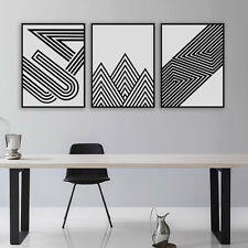 3PCS Geometric Shape Art Prints Poster Abstract Wall Pictures Canvas Painting