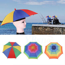 Headwear MultiColor Umbrella Beach Sun Rain Golf Fishing Camping Hunting Hat Cap