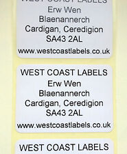 Printed Personalised White Address Adhesive Labels - 38mm x 25mm